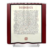 Wine Framed Sunburst Desiderata Poem Shower Curtain