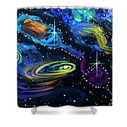 Wine Galaxy Shower Curtain