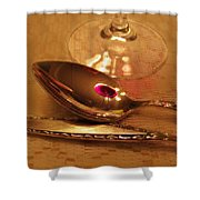 Wine In The Spoon Shower Curtain
