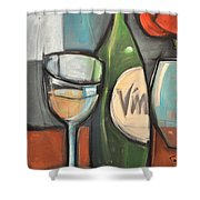 Wine Is Bottled Poetry Shower Curtain