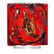 Wine Jazz Shower Curtain
