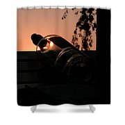 Wine On Down Shower Curtain