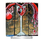 Wine Out Pour Shower Curtain