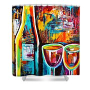 Wine Lovers Abstract Shower Curtain