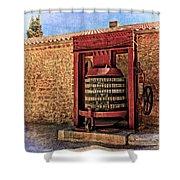 Wine Press Near Narbonne France Dsc01630 Shower Curtain