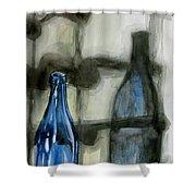 Wine Rack Shadows Shower Curtain
