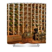 Wine Rack Vineyard Fermentation   Shower Curtain