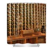 Wine Rack Vineyard Fermentation Shower Curtain