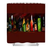 Colors Of Wine Shower Curtain