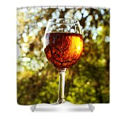 Wine Reflections Square Shower Curtain
