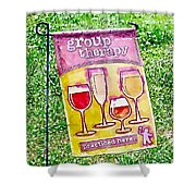 Wine Sign Shower Curtain