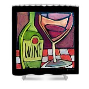 Wine Squared Shower Curtain
