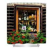 Wine Window Shower Curtain