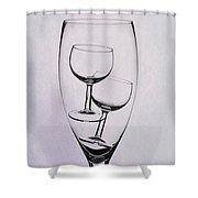 Wineglass Trio Shower Curtain