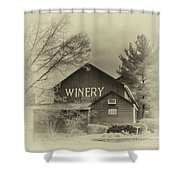 Winery In Sepia Shower Curtain