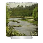 Winery River Shower Curtain