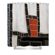 Winery Window Wall Detail Shower Curtain