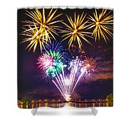 Wing Dam Fireworks  Shower Curtain