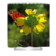 Wing Flower Shower Curtain