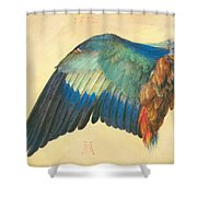 Wing Of A Blue Roller 1512 Shower Curtain