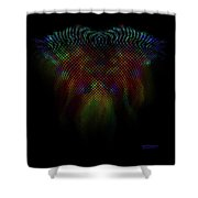 Wing Trails Neon Fade Shower Curtain