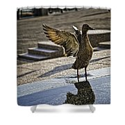 Winged Bird Shower Curtain