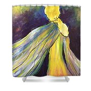 Winged Goddess Update Shower Curtain