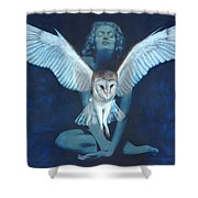 Winged Heart Shower Curtain