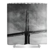 Winged Skyscraper Shower Curtain
