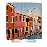 Wingin It In Venice Shower Curtain