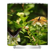Wings And Blooms Shower Curtain