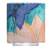 Wings And Pedals Shower Curtain