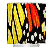 Wings Of A Monarch Butterfly Abstract Shower Curtain