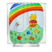 Winnie The Pooh  Shower Curtain