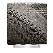 Winning Quote From Vince Lombardi Shower Curtain