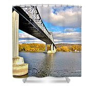 Winona Bridge Shower Curtain
