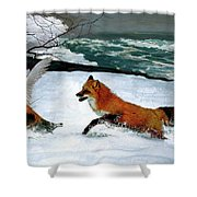 Winslow Homer's, 1893 ' The Fox Hunt ', Revisited 2016 Shower Curtain