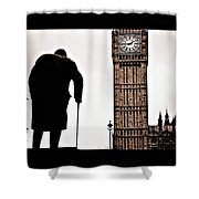 Winston And His Watch Shower Curtain