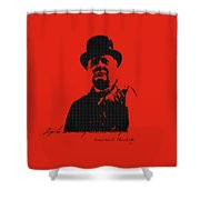 Winston Churchill - A Joke Is A Very Serious Thing Shower Curtain