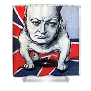 Winston Churchill Holding The Line Shower Curtain