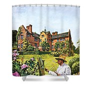 Winston Churchill Painting At Chartwell Shower Curtain