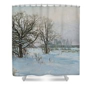 Winte Evening Shower Curtain