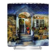 Winter - Christmas - Dressed Up For The Holidays  Shower Curtain