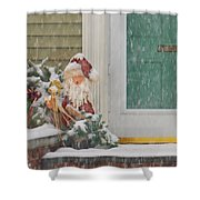 Winter - Christmas - Oh Oh Brrr Shower Curtain