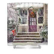 Winter - Christmas - Silent Day  Shower Curtain