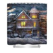 Winter - Clinton Nj - A Victorian Christmas  Shower Curtain