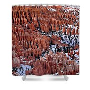 Winter Afternoon At Inspiration Point Bryce Canyon National Park  Utah Shower Curtain