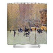 Winter Afternoon In New York Shower Curtain