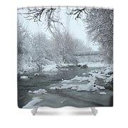 Winter Along Clear Creek Shower Curtain
