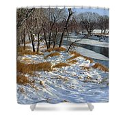 Winter Along The Little Sioux Shower Curtain